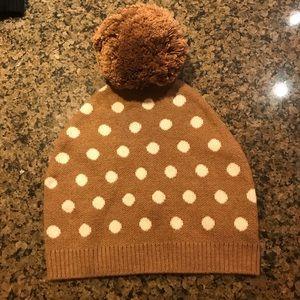BCBG Max Azria Tan Polka Dot Hat